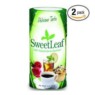 SweetLeaf Стевия порошок, 4-унция Шейкер Банки (в упаковке 2)