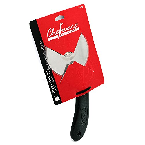 Mario Batali Pizza Crust (Best Pizza Wheel Cutter by Chefware Solutions Industrial Stainless Steel)