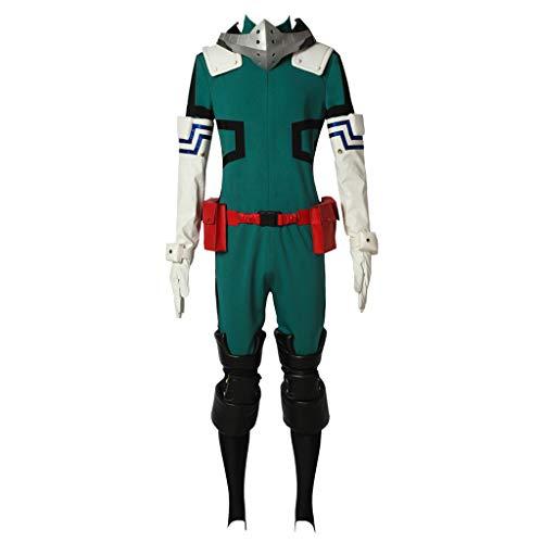 CosplayDiy Men's Suit for My Hero Academia Akademia Izuku Midoriya Cosplay Set XXXL -