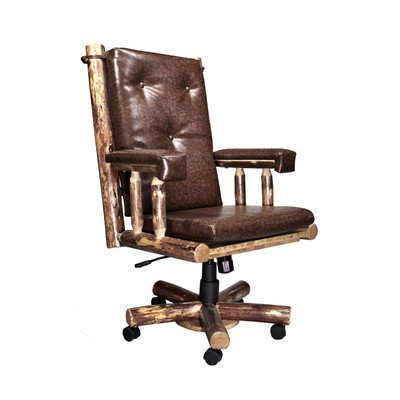 - Montana Woodworks MWGCOC Glacier Country Collection Upholstered Office Chair