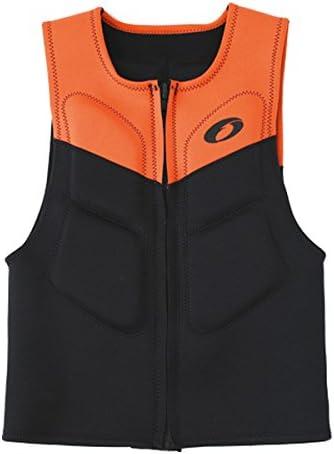 フローティングベスト ACTIV JACKET ブラック/ オレンジ XL