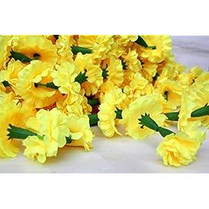 Buycrafty 5 Feet Long Strands Marigold Garlands, Flower Garland, Indian Wedding Flowers, Diwali Marigold, Set of 5, Party Decor, Wedding, Deepavali 4