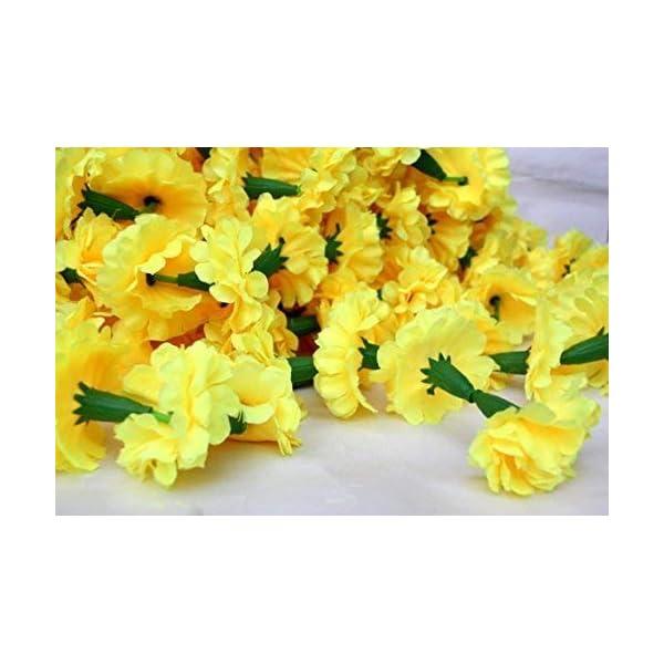 Buycrafty 5 Feet Long Strands Marigold Garlands, Flower Garland, Indian Wedding Flowers, Diwali Marigold, Set of 5, Party Decor, Wedding, Deepavali