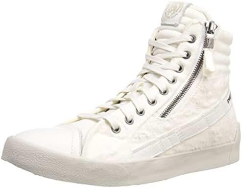 Diesel Men's D-Velows D-String Plus Mono Fashion Sneaker, White, 10 M US