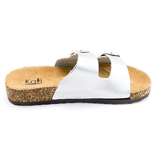 Little Kid Silver Sandals Toddler Ankle Strap Hook Kali Buckle Girls 2 Toe Open wxBcv17Pq