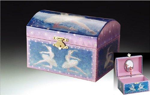 Blue Ballerina Play the Classic Tune Swan Lake Music Jewelry Box