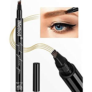 Eyebrow Tattoo Pen – iMethod Microblading Eyebrow Pencil with a Micro-Fork Tip Applicator Creates Natural Looking Brows…