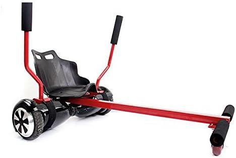Run & Roll Smart Go Kart - Silla kart para hoverboard eléctrico, color rojo, 6.5