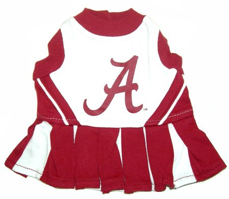 Alabama Crimson Tide Dog Cheer Leading Dress & Leash Set Size MD