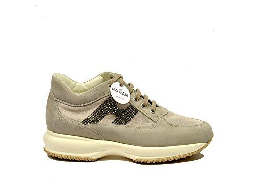Hogan Sneakers Donna HXW00N02011FI7C416 Camoscio Beige