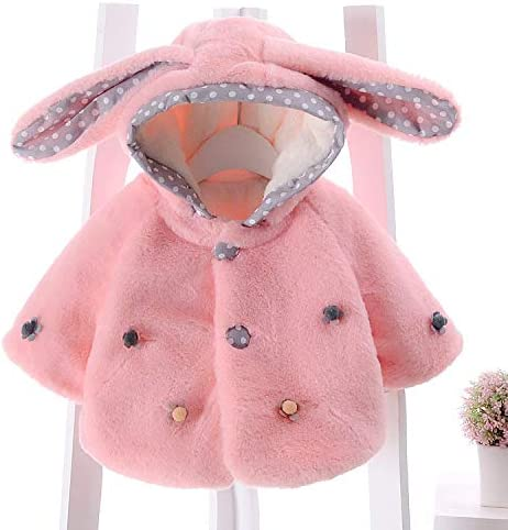 Calsunbaby Infant Baby Girl Winter Fleece Coat Long Sleeve Hooded Front Button Jacket