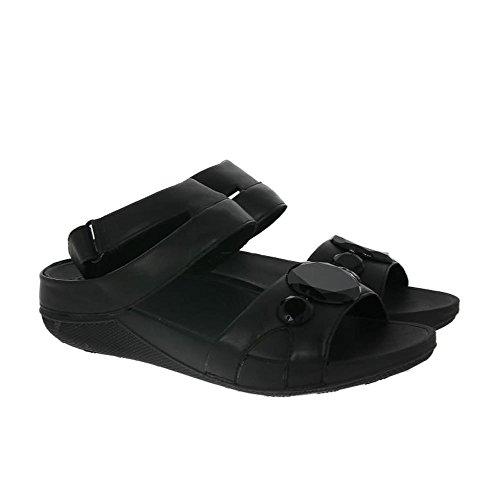 Fitflop Luna Pop Gladiator Sandals - Sandalias con tacón Mujer Black (All Black)