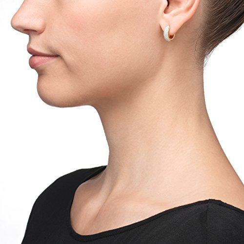 Créoles Or Boucles d'oreilles Femme-Or jaune 333partie Rho diniert Diamètre 14mm neuf (149400)