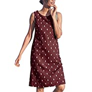 JustWin Summer Fashion Vintage Dress Women Sleeveless Beach Printed Mini Dress Cocktail Casual Short Dress