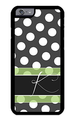 Custom Phone Cases for iPhone 6, iPhone 6S, iZERCASE [White Polka Dots Green Line] [Perfect Fit] Make Your Own Phone Case, Monogram Personalized Case - Ferrari Customize Your Own