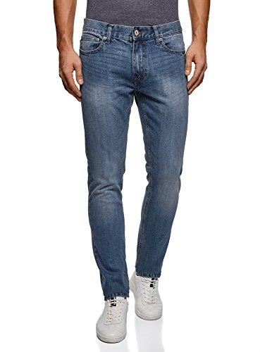 Oodji Ultra Uomo Jeans Basic A Vita Media Blu (7501w)