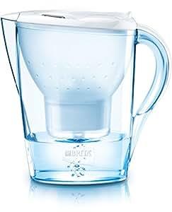 BRITA Marella - Jarra con filtro de agua 2.4 L, color blanco