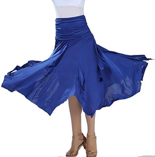 Long Professional Flamenco Ballroom Dance Handkerchief Training Skirts Women
