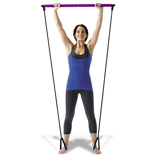 Training Indoor Fitness Tubing Portable Pilates Studio w/DVD (Purple)