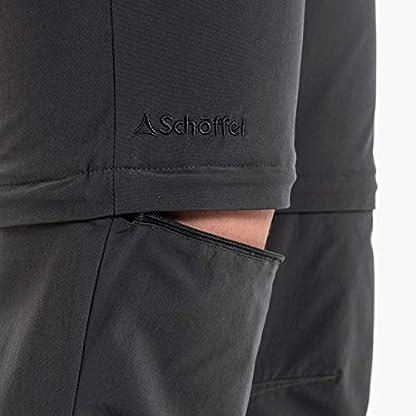 Schöffel Pants Ascona Zip Off, leichte und komfortable Damen Hose mit optimaler Passform, flexible Outdoor Hose für Frauen Damen, asphalt, 40 4