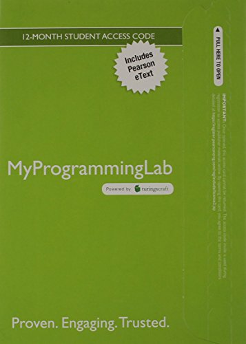 MyLab Programming with Pearson eText -- Access Card -- for Intro to Java Programming, Comprehensive Version, 10/e by Pearson