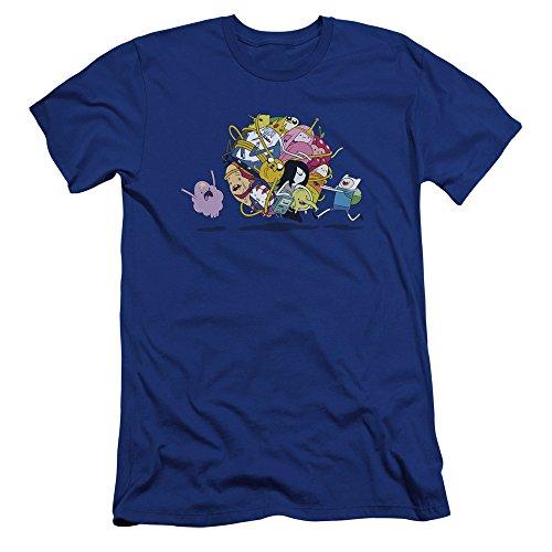 para hombre Time Blue Adventure hombre Premium Fit premium Camiseta Royal ajustada para HPOvPR