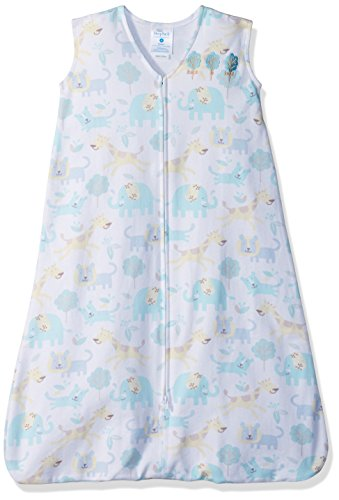 Halo SleepSack 100% Cotton Wearable Blanket, Blue Animal, Medium by Halo