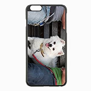 iPhone 6 Plus Black Hardshell Case 5.5inch - german spitz dog muzzle leash little Desin Images Protector Back Cover
