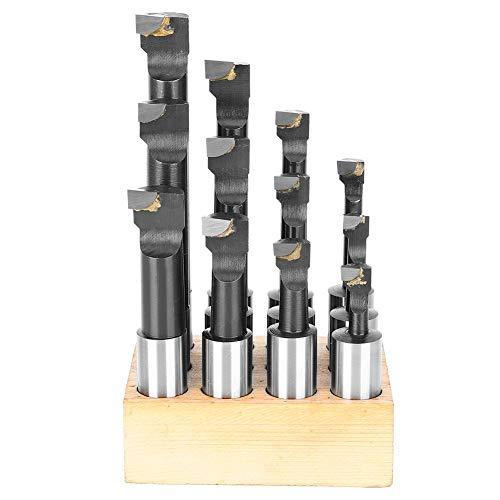 12-teiliges 3/4-Zoll-Bohrstangenset, CNC-Drehwerkzeughalterung, Schaft-Hochgeschwindigkeits-Stahlspitzenbohrstangenset, langlebig mit Sockel