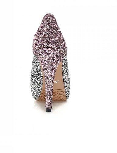 ShangYi Chaussures Femme - Mariage / Décontracté / Soirée & Evénement - Bleu / Rose / Or - Talon Aiguille - Talons - Talons - Similicuir golden iigomzr9Mr