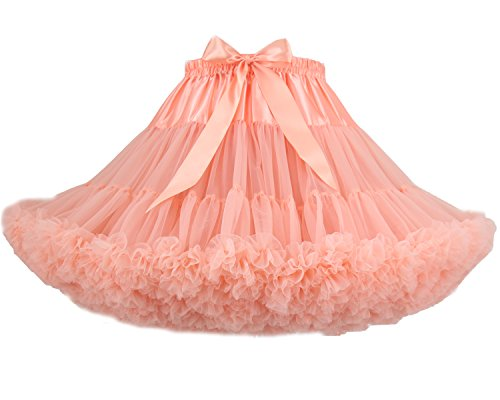 Costume Luxueux Puffy Danse couche Adulte Tutu Ballet FOLOBE Multi Jupe Nudepink Joli Petticoat zw5S6HFxq