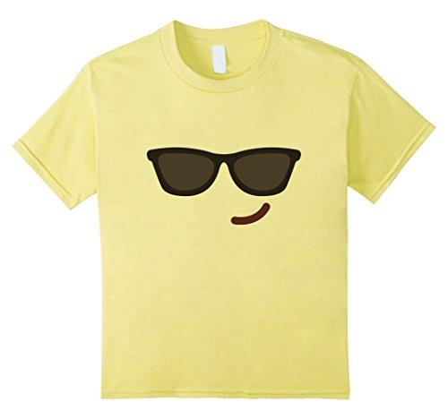 Kids Emoji Group Costume Idea Shirt - Cool Emoji Emoticon 8 Lemon (Group Costume Ideas For Kids)