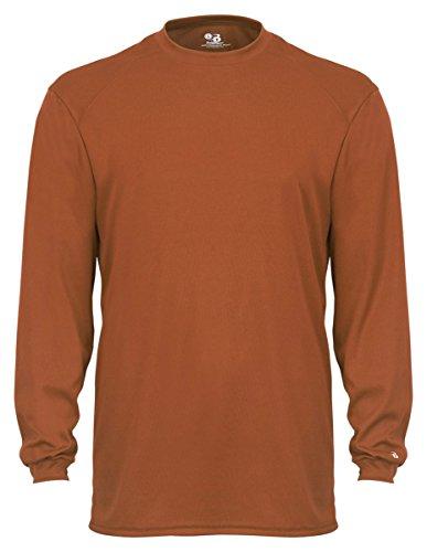 - Badger Sportswear Adult B-Core Long Sleeve Tee, Texas Orange, X-Large