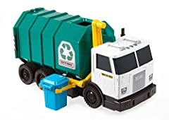 ​Matchbox inspires kids to be everyday heroes with real world replicas of vehicles equipped to get the job done! The Matchbox large-scale Garbage Truck has great features for imaginative play. Push vehicle forward or pull backward for realist...