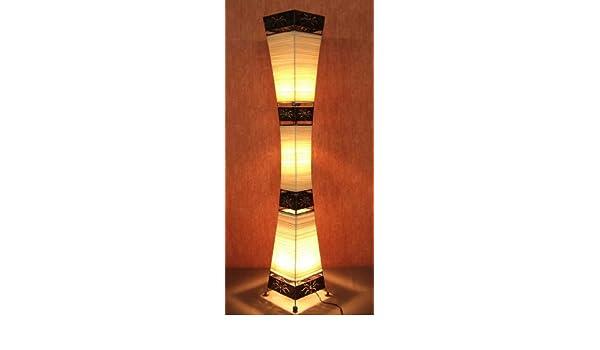 Lámpara de pie asiatica Padang Tiga (LA22-10), Decoración ...