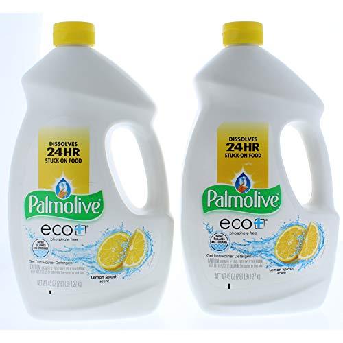 2 Pk. Palmolive Eco Gel Lemon Splash Dishwasher Detergent 45 Ounce (90 Oz Total)