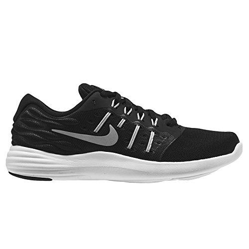 1929a347cfa5 Galleon - Women s Nike LunarStelos Running Shoe Black Metallic Silver  Anthracite White Size 7.5 M US