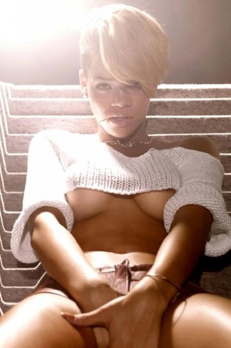 Rihanna Nice Silk Fabric Cloth Wall Poster Print (36x24inch)