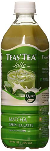 Teas' Tea Matcha Green Tea Latte, 16.9 Ounce (Pack of 12), Organic, Cane Sugar Sweetened, Fat Free, No Artificial Sweeteners, Antioxidant Rich, High in Vitamin C, Caffeinated