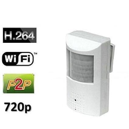 Agente007 - Camara Espia Profesional Inalambrica Wifi P2P Ip Oculta En Sensor De Presencia Hd 720P
