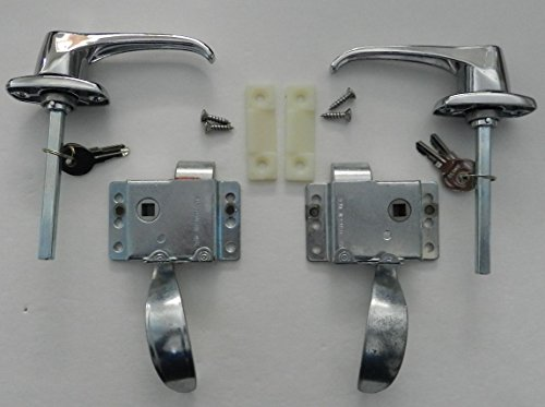 RV Teardrop Trailer Camper Front Locking Door L Handle Latch Kit