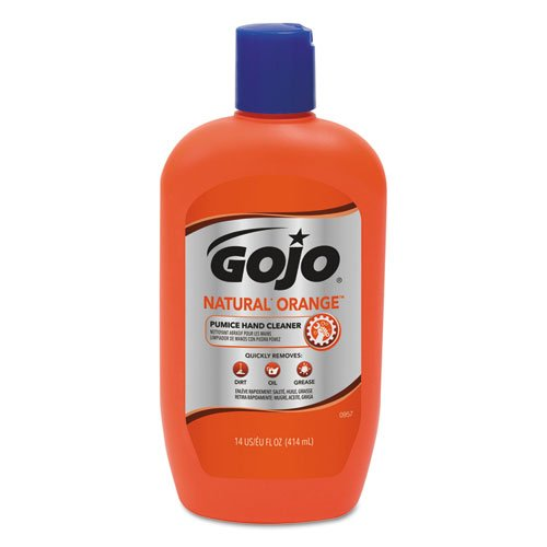 GOJO Hand Cleaner with軽石オレンジ式14オンスボトル( Pack of 12 ) B01HIOW5MQ