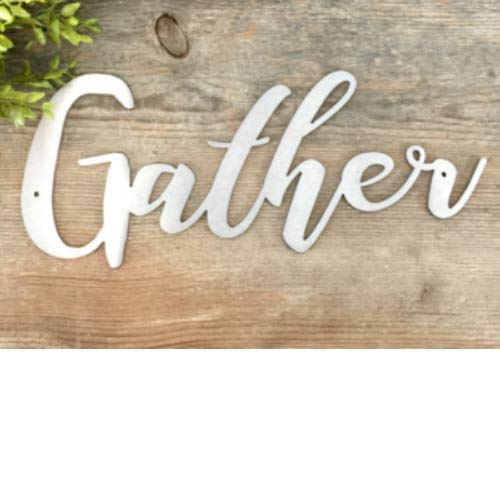 Porch Gather Decor Metal Gather Dining Room Wall Art Sign