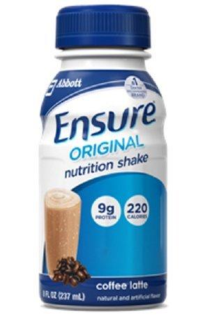 Ensure Original Nutrition Shakes, Coffee Latte, 8 oz -1/Case of 24 Bottles by Abbott Nutrition