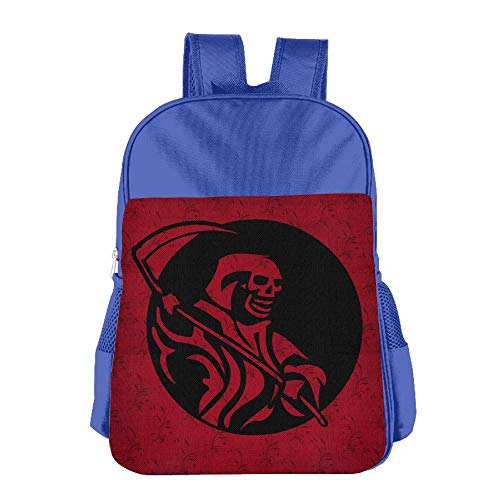 School Children'S School Bag Deathmann Cute Lightweight Backpack Or Travel Bag Royalblue ()