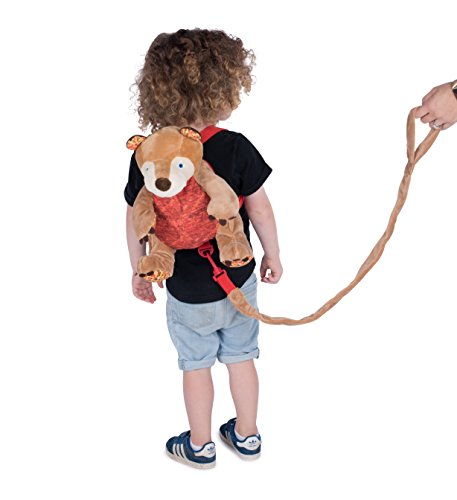Eric Carle The Very Hungry Caterpillar Bear Backpack, Children's Safety Harness, Plush and Machine Washable, Polyester, Brown