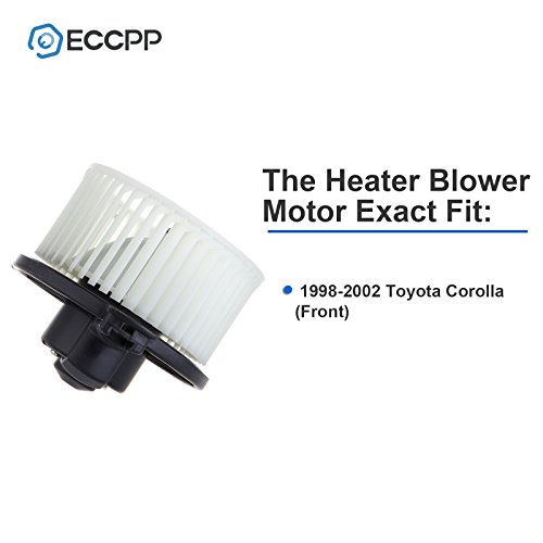 ECCPP ABS plastic Heater Blower Motor w/Fan Cage Replacement fit for 1998-2002 Toyota Corolla (Front)