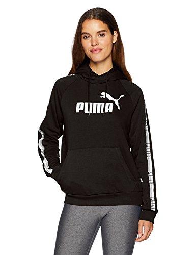 Puma Womens Hoody - PUMA Women's Tape Hoody French Terry, Cotton Black, M
