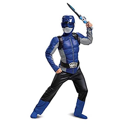 Disguise Blue Ranger Beast Morpher Boys' Muscle Costume: Toys & Games