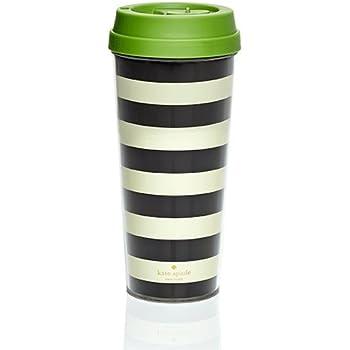 Kate Spade Thermal Mug - Black and White Stripe